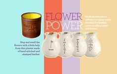 SHOP NOW: HideyHideyHide leather planter, $20; Bambeco Inspiration bud vases, $64 for set of 4