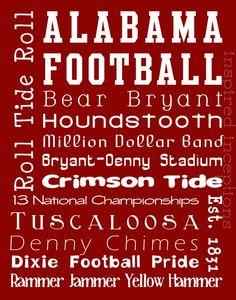 Univ of Alabama Crimson Tide football fever