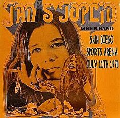 Poster for July 1970 Janis Joplin concert in San Diego.