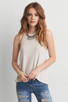AEO Feather Light Rib Tank by AEO | Light as a feather. Our latest collection of Feather Light tops is soft, airy