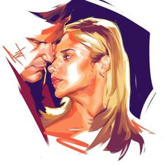 I've been slain. Today's Random Portrait went way longer than planned but I do enjoy how this turned out. Thanks again to @ericacotten for the suggestion. I'm going to have to watch Buffy. - - - #schmandrewart #illustration #illustratorsoninstagram #randomportraitseries #columbusohio #columbusartist #buffythevampireslayer #angel #sarahmichellegellar #digitalart #digitalpainting