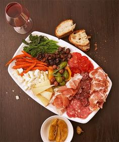 Antipasto platter- so easy and yummy for entertaining.