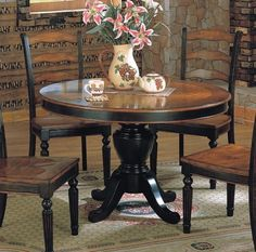 Brilliant Ideas Two Tone Dining Table Valuable Design 1000 Ideas About Two Tone . Refinished Table, Refurbished Furniture, Furniture Makeover, Painted Furniture, Diy Furniture, Two Tone Table, Kitchen Table Makeover, Dining Table Chairs, Black Round Dining Table