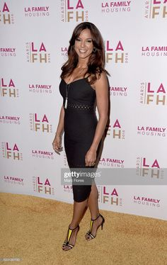 Eva LaRue arrives at LA Family Housing's Annual Awards 2016 at The Lot on April 2016 in West Hollywood, California. Beautiful Celebrities, Beautiful Females, Eva Larue, Pin Up Models, Le Jolie, Hot Actresses, Pin Up Girls, Lady, Amazing Women