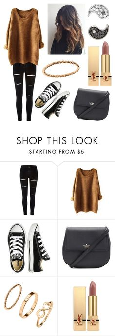 """""""Untitled #309"""" by fashion-with-dudette on Polyvore featuring River Island, Converse, Kate Spade, H&M, Yves Saint Laurent and Sydney Evan"""