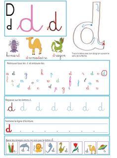 """Imprimer la page sur le """" d """" pour le livre GS / CP sur les minuscules l Lecture MS maternelle et CP"""