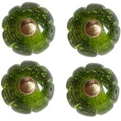 Green glass knobs