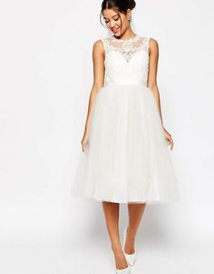 a2dc2ab922a5 Asos EDITION BRIDAL Lace Sweetheart Tutu Midi Dress  BRIDAL Lace Asos  Bridal Lace