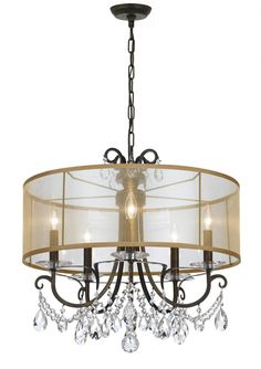 Buy the Crystorama Lighting Group English Bronze Direct. Shop for the Crystorama Lighting Group English Bronze Othello 5 Light Wide Chandelier with Clear Hand Cut Crystals and save. Drum Shade Chandelier, Bronze Chandelier, Chandelier Lighting, Chandeliers, Lighting Sale, Bedroom Lighting, Home Renovation, Thing 1, Chandelier