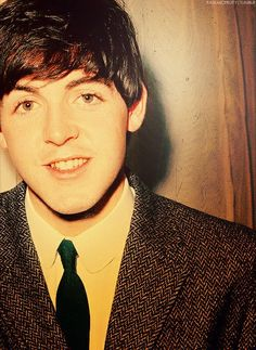 Paul McCartney. From the more legit British boy band fever, ever. He's a classic <3
