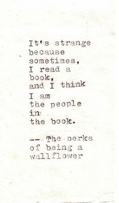 perks of being a wallflower. <3