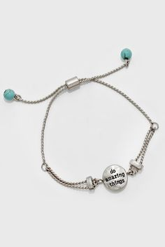 Do Amazing Things Bracelet in Silver