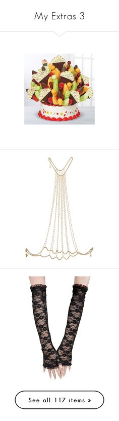"""My Extras 3"" by thesassystewart on Polyvore featuring jewelry, necklaces, gold, body chain jewelry, bridal jewelry, rosantica, gold tone jewelry, handcrafted jewellery, accessories and gloves"