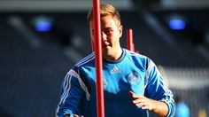 Mario Götze of Germany takes part in a training session ahead of their UEFA EURO 2016 qualifier against Scotland