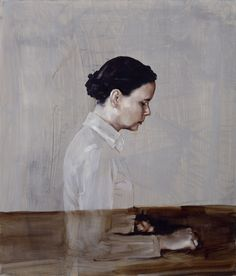 Michaël Borremans One 2003  70 x 60 cm oil on canvas