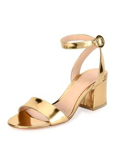 Metallic+Ankle-Strap+City+Sandal+by+Gianvito+Rossi+at+Bergdorf+Goodman.