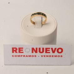 Anillo de oro de segunda mano con turmalinas verdes E276725E | Tienda online de segunda mano en Barcelona Re-Nuevo