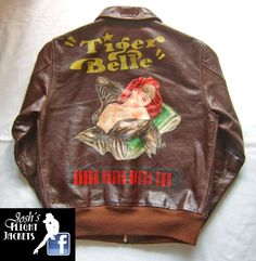 WWII US Army Air Force Nose Art Pin up Hand Painted Flight Jacket A-2 Star Sportswear Eastman Leather