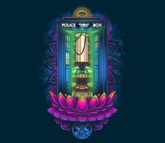 Enlightened Police Box TEE BY BAMBOOTA