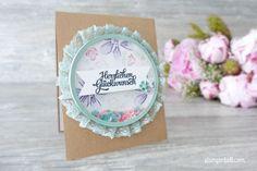 Schüttelkarte Shaker Card Glückwunschkarte Garden in Bloom Stampin Up! Stampinbell happy birthday Geburtstagskarte Birthdaycard