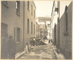 Bubonic Plague in Sydney 1900 Batson's Lane, off Sussex-street from Views taken during Cleansing Operations, Quarantine Area, Sydney, 1900