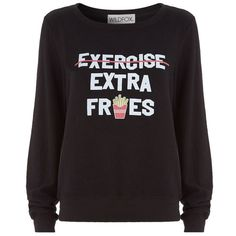 Wildfox Extra Fries Baggy Beach Sweater ($145) ❤ liked on Polyvore featuring tops, sweaters, shirts, jumper, long sleeves, oversized shirt, oversized jumper, baggy long sleeve shirt, wildfox jumper and long sleeve tops