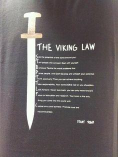 "There is NO ""viking law"". ""Viking"" is what some Nordic people did, not who they… Viking Life, Viking Art, Viking Woman, Viking Ship, Norse Pagan, Norse Mythology, Viking Quotes, Viking Sayings, Viking Culture"