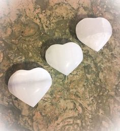 SELENITE Puffy White Heart Crystal /Angel by WingsAndThingsbyAlex