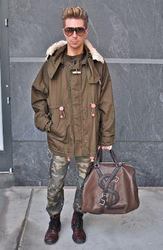 Kyle Anderson - Burberry coat, YSL bag, Miu Miu Boots July 23