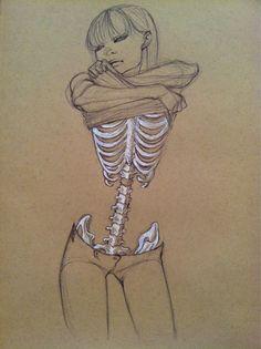 Femme squelette                                                                                                                                                                                 Plus