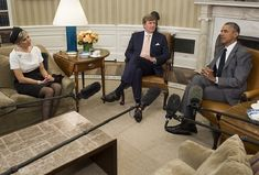 King Willem-Alexander and Queen Maxima visit United States-Day-1-- Oval Office, White House with President Obama 01 June 2015