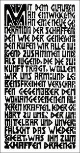 Manifeste du mouvement die Brücke, bois gravé d'Ernst Ludwig Kirchner Franz Marc, Ernst Ludwig Kirchner, Wassily Kandinsky, Berlin Spree, Karl Schmidt Rottluff, New Objectivity, Emil Nolde, Cool Typography, Dresden
