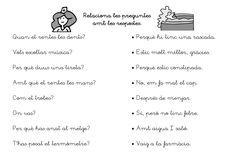 UNA PREGUNTA... UNA RESPOSTA. Lletra lligada Spanish Teacher, Spanish Class, Lectures, Conte, Valencia, Literacy, Reading, School, Logo