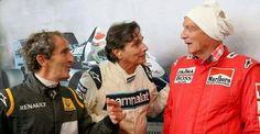 Prost,  Piquet e Lauda