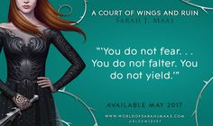 Order Now! A Court of Wings and Ruin (A Court of Thorns and Roses) – May 2, 2017. http://amzn.to/2m69Svu #Books #Fantasy #ACOTAR_series #ACOWAR