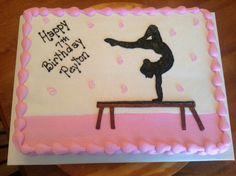 Gymnastics Birthday Cakes, Gymnastics Party, Barbie Birthday, Birthday Cake Girls, Birthday Fun, Birthday Parties, Birthday Ideas, Class Birthdays, Birthday Sheet Cakes