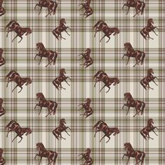 The 50's Plaid Horse fabric by ragan on Spoonflower - custom fabric