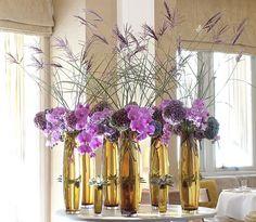 golden vases...purple blooms...lush Wealth Quadrant...prosperous idea