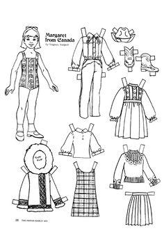 The Friend magazine Paper Doll_Canada