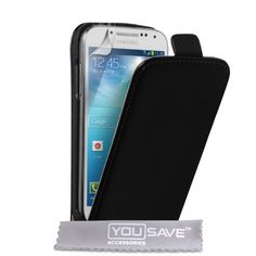 Samsung Galaxy S4 Mini Case Black Split Leather Flip Cover - http://www.css-tips.com/product/samsung-galaxy-s4-mini-case-black-split-leather-flip-cover/