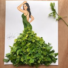 Dress made of parsley by Edgar Artis