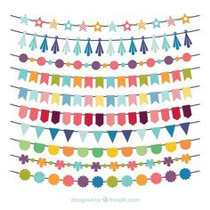 Birthday multicolor garland collection F. Birthday Flags, Diy Birthday, Birthday Parties, Ramadan Decorations, Birthday Party Decorations, Diy Paper, Paper Crafts, Diy And Crafts, Crafts For Kids