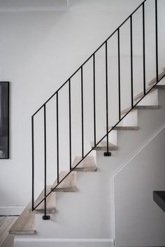48 ideas for wrought iron stairs railing black Stairs Ideas Black Ideas iron Railing stairs wrought Black Stair Railing, Wrought Iron Stair Railing, Black Stairs, Stair Railing Design, Metal Stairs, Loft Stairs, Stair Handrail, Staircase Railings, Modern Stairs