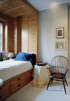 Bedroom Photos Small Bedroom Design, Pictures, Remodel, Decor and Ideas - page 4 Small Bedroom Designs, Master Bedroom Design, Small Bedrooms, Bed Nook, Alcove Bed, Platform Bed With Storage, Platform Beds, Sleeping Nook, Built In Bed