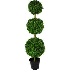 32cm Artificial Ball Tree Topiary Out//Indoor Faux Milan Balls Decor Green