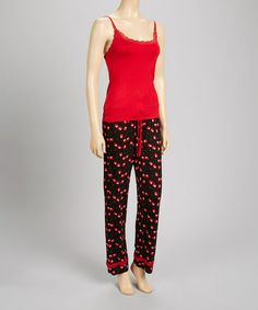Love this Black & Red Classic Tank Pajama Set - Women on #zulily! #zulilyfinds