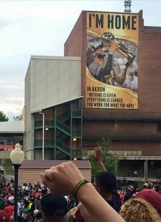 Akron Parade... for Lebron James #KingJames #Akronkid #NBAWORLDCHAMPIONS #Cavaliers