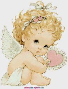 Sweet little angel. Baby Painting, Fabric Painting, Angel Pictures, Cute Pictures, Best Anime List, Serotonin Tattoo, Winter Szenen, Crochet Towel, Beautiful Fantasy Art
