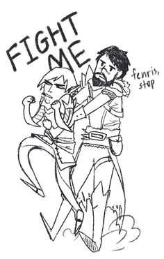 Fenris and Hawke. FenHawke. <3 Dragon Age: II
