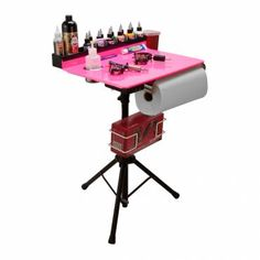 This is a pretty fantastic all-in-one #Tattoo station for all sizes of studios. Porta Station Portable Tattoo Stand Table Travel Desk Tray #monstergear